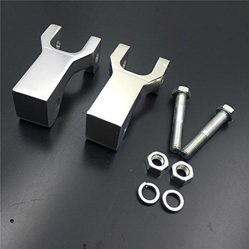NBX- Silberfarbenes Tieferlegungs-Set für Kawasaki KFX 450R (nur Original-A-Arme)