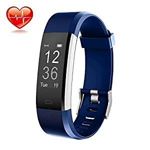 ONSON Fitness Trackers, Activity Tracker Pedometer Smart Watch with Heart Rate Monito for Android and iOS Smartphones,Great Christmas Gifts for Kids Women and Men