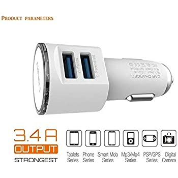 SHRINATH SPORTS Sport Centre Dual Port Qualcomm Certified 3.0 Quick Charge, 2.4A Smart IC USB Car Charger Adapter for All Smartphones and Tablets