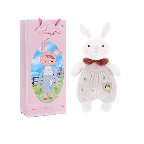 Metoo Plüsch Hase Plüschtiere Kaninchen Puppen Stofftier - Plüsch Tiramit Kaninchen Spielzeug mit Geschenktasche Braun (15 Zoll) - Mädchen Geschenke (Papier-puppen Ostern)