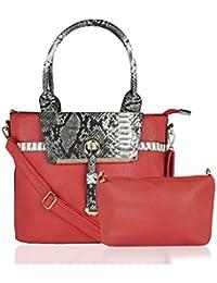 Kleio Designer Spacious Combo Bag in Bag Satchel Handbag for Women / Girls