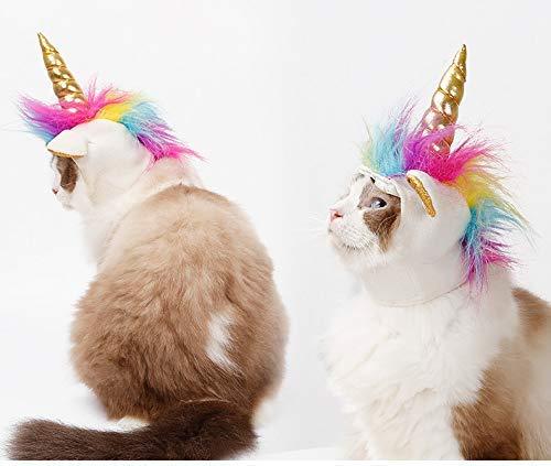 MSAI - Disfraz de Unicornio para Mascota, Gato, para Disfraz de Gato, para Disfraz, Halloween, Navidad, Fiestas