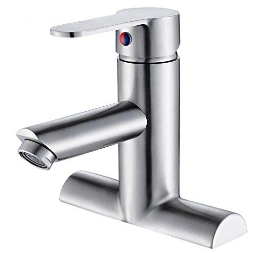 304 rubinetto in acciaio inox singola maniglia doppio foro rame caldo e freddo bagno shampoo bacino valvola di miscelazione apertura 32mm a 40mm può essere installato