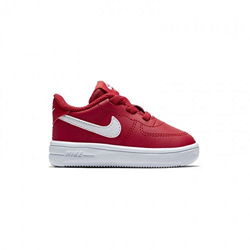 Nike Unisex Baby Force 1 '18 (td) Hausschuhe Rot (University Red/White 601) 21 EU (Jordan Basketball-schuhe Mädchen)