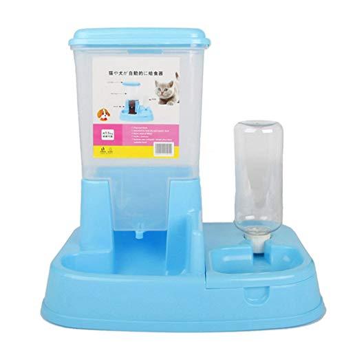Babysbreath17 Perro de Doble Puerto automático alimentador automático dispensador de Agua Potable Gato Plato Fuente Alimentación Suministros Pet Bowl #2