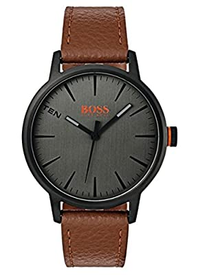 Hugo Boss Orange Mens Analogue Classic Quartz Watch with Leather Strap 1550054