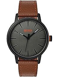 202824f68bd8 Hugo Boss Orange Homme Analogique Classique Quartz Montres bracelet avec  bracelet en Cuir - 1550054