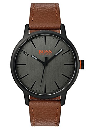 Hugo Boss Orange Herren-Armbanduhr Quarz mit Leder Armband 1550054 - Braun Leder Hugo Boss