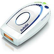 Babyliss G932E - Depiladora IPL compacta de luz pulsada, con pulsaciones, 2 modos de uso y 5 niveles de intensidad de la piel, color blanco