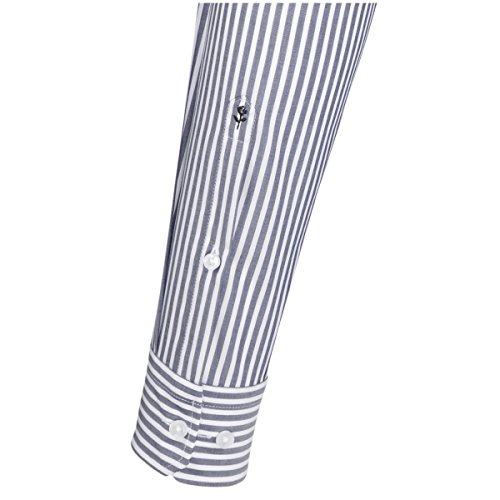 Seidensticker Slim Herren Langarm Bügelfrei Stretch Formal Hemd Blau