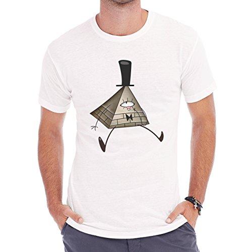 Mr Illuminati Symbolic New World Order Art Herren T-Shirt Weiß