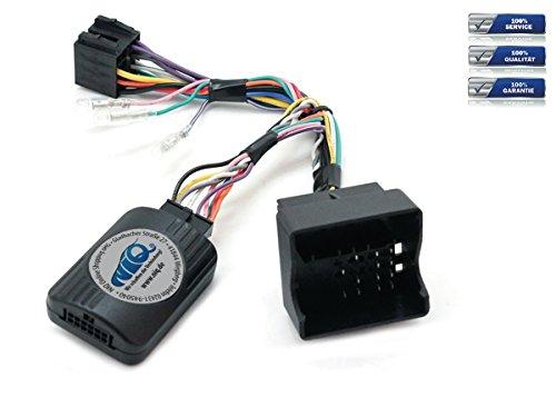 NIQ CAN-BUS Lenkradfernbedienungsadapter geeignet für PIONEER Autoradios, kompatibel mit VW Amarok / EOS / Golf V / Golf VI / Jetta / Passat / Scirocco / Tiguan / Touran / Transporter - Interface Radio Box