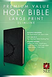 Premium Value Slimline Bible-NLT-Large Print Crown