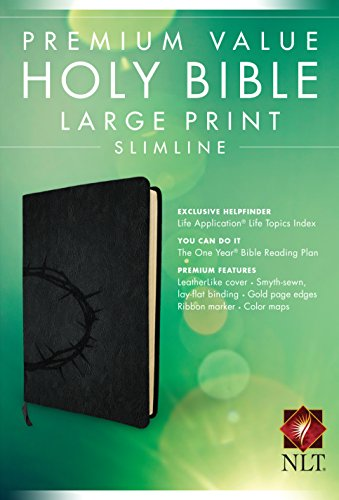 Premium Value Slimline Bible-NLT-Large Print Crown por From Tyndale House Publishers