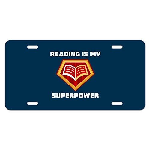 Lesen ist My Superpower Neuheit Metall Vanity Tag License Plate (Plate License Reader)