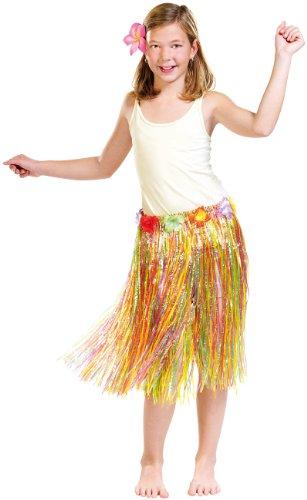 Mädchen Kostüm Kind Hula - infactory Kostüme: Hawaii-Rock für Kinder (Fasching-Kostüme für Kinder)