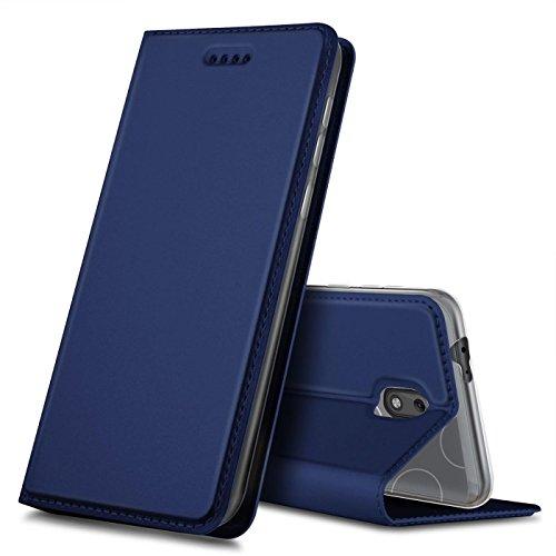 Handyhülle Bookstyle Nokia 2 in Blau klappbares Slimcover, Flip Case, Klapptasche, Hülle, Tasche, Handytasche für Nokia 2 5,0 Zoll