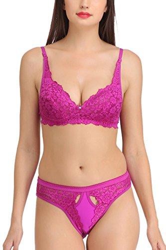 FIMS® Women's Girls Nylon Lycra Spandex (4WAY) |Bra and Panties Set| Bra...