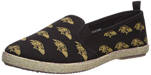 FOCO Baltimore Ravens Espadrille Canvas Shoe - Womens Small
