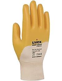 Uvex 601488Profi Ergo enb20Sicherheit Handschuh, Größe: 8, weiß, orange