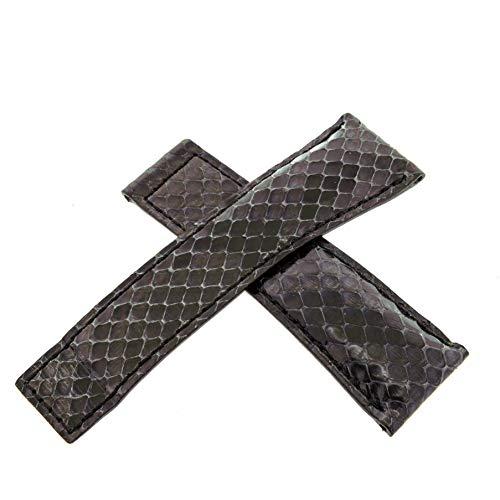 Tag Heuer 22–18mm schwarz Schlange Haut Herren-Armbanduhr Band
