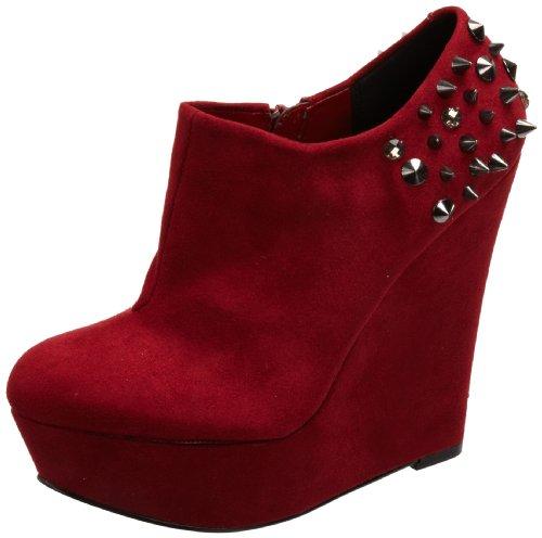 Blink Bottines Suede, Bottes Femme Rouge (rouge Foncé)
