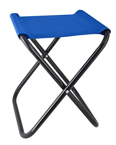 Iso Trade Klapphocker Angelstuhl Camping Klappstuhl Anglerstuhl Falthocker Campinghocker #2264, Farbe:Blau