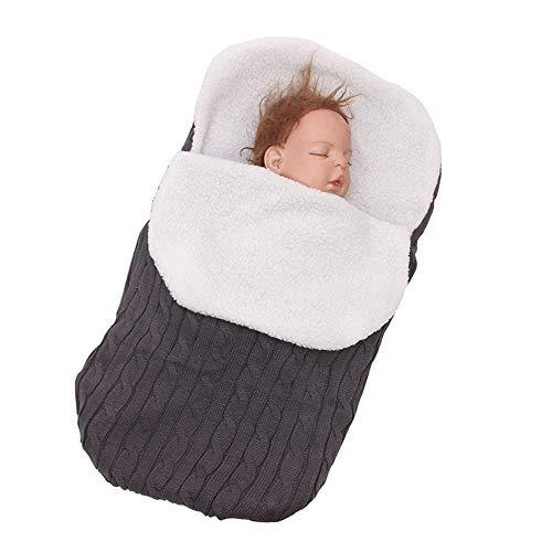 Baby Warm Dicke Baby-Swaddle Für Wickel Strick/Envelope Neugeborenen Schlafsack/Schwenkbare Decke Kleinkind/Stroller Schlaf Sack Fußmuff,E