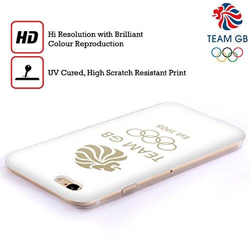 Official Team GB British Olympic Association EST Gold Logo Soft Gel Case for Apple iPhone X EST Gold