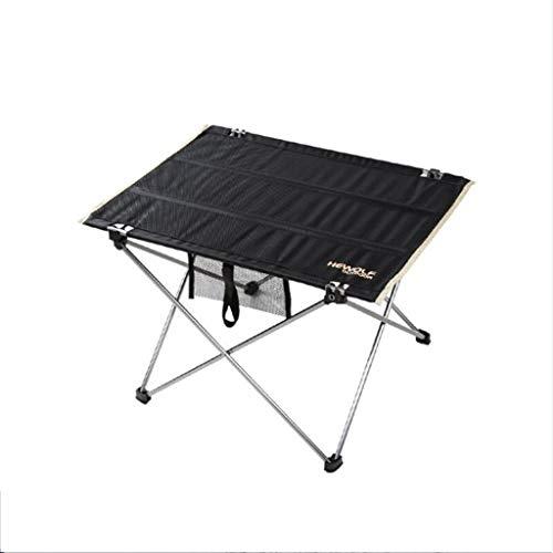 YUN-X Tabelle, tragbarer Aluminiumklapptisch im Freien, selbstfahrende Tour, Picknickgrill, Freizeitcamping, Büroausstellung, Geschäftsstand, (nur 0.7KG kann auf 56 * 42 * 38 cm} gesetzt Werden