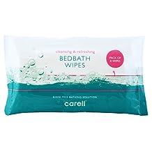 Carell bed baddoekjes - gemakkelijk te gebruiken, met Aloë Vera, dermotologisch getest, alcoholvrij - Pack van 8 doekjes