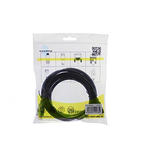Kloner KC2000 2m HDMI HDMI Negro cable HDMI - Cables HDMI (2 m, HDMI Type A (Standard), HDMI Type A (Standard), 1920 x 1200 Pixeles, 3D, Negro)