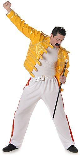 Men's Freddie Mercury Queen 1980s Costume