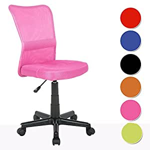 SixBros. Chaise de bureau rose - H-298F/1412