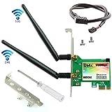 Ubit Scheda WiFi, AC 1730 Mbps, Bluetooth 5.0 Dual Band Scheda di Rete Wireless, Scheda Wireless 9260 PCIe Adapter, PCI-E Adattatore di Rete WiFi per PC Desktop