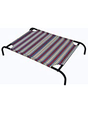 HOMECUTE Elevated Cooling Mesh Dog or Cat or Large Pet Bed Cot (Multicolour)
