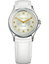 Jowissa Genua J4.011.M - Reloj analógico de cuarzo para hombre, correa de cuero color blanco