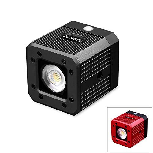 dslr drohne fotowelt 20M Wasserdicht COB LED Videoleuchte Tauchen Camping Beleuchtung Wasserdicht 20m für DSLR, Digitalkamera, Drohne und Action Camera 8W (Schwarz)