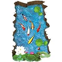 Skyeye Adhesivos de Pared 3D Piscina Tridimensional Adhesivos de Simulación Baldosas Pegatinas Habitación Dormitorio Sala de estar en el hogar Dormitorio Decoración Pegatinas Sofá Fondo Pegatinas de Pared Decorativas Sala de Arte Creativa Pegatinas Decorativas Murales