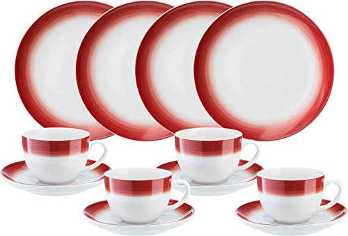 Gepolana Kaffeeservice 12-tlg. Porzellan rot
