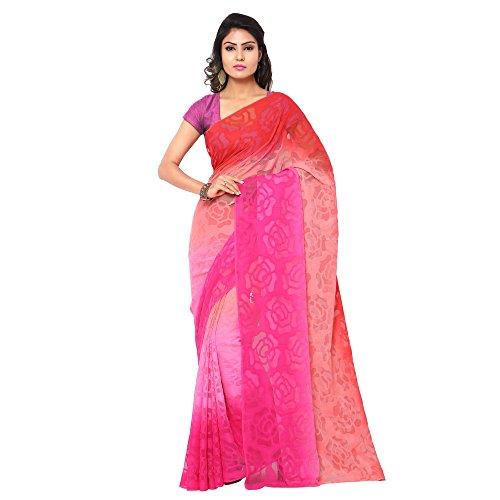 Gl Sarees Jacquard Saree (Gl0318_Pink)