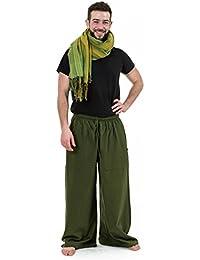 - Pantalon large droit homme femme coton leger vert kaki Sena -