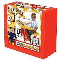 Unbekannt Feuerwehrmann Sam sitzen und Spielen Schreibtisch (Kunst Feuerwehrmann)