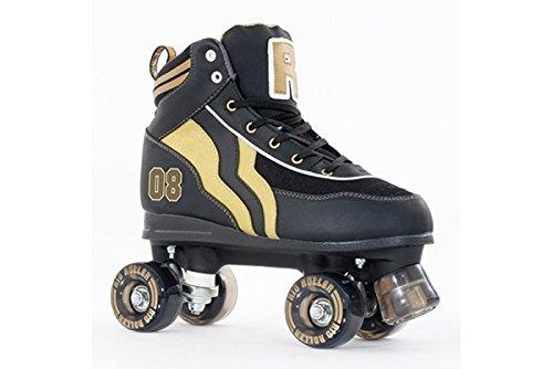 Rio Roller Varsity Childrens Quad Skates - Black/gold