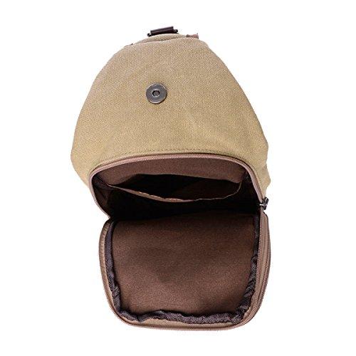 Gli Uomini Di Massa Yy.f Borsa Di Tela Al Torace Borsa Messenger Bag Grande Esterno Tablet Zaino Da 10 Pollici Sacchetto Solido Multicolore Blue