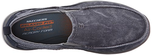 Skechers Mens Elected - Drigo Canvas Trainers Navy