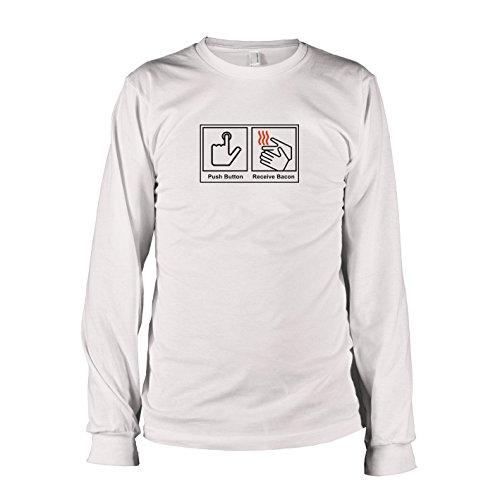 TEXLAB - Push Button Receive Bacon - Langarm T-Shirt, Herren, Größe XXL, weiß (Lufterfrischer Kostüm)
