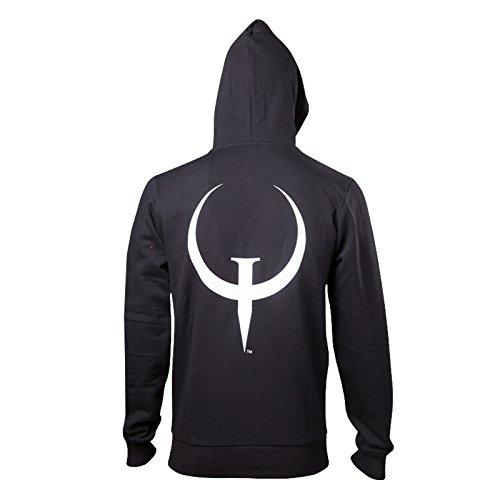 Quake Kapuzen Jacke Game Logo Schwarz Schwarz