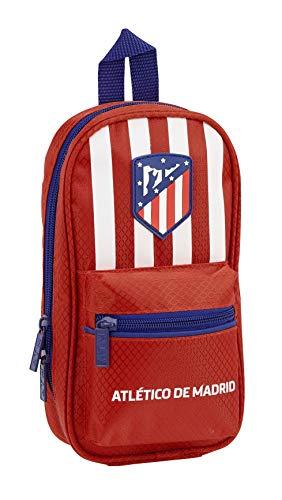 Atlético de Madrid Plumier Mochila 4 Estuches llenos, 33 Piezas, Escolar