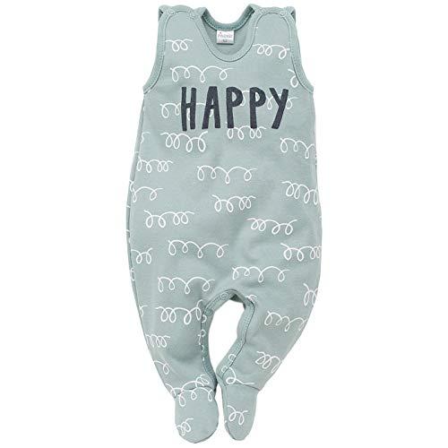 Pinokio - Happy Llama - Baby Strampler (Schlafanzug/Einteiler) 100% Baumwolle - ärmellos - Türkis oder Orange/Apricot - Lama Motiv - Kinder Mädchen Jungen (56 cm, Türkis)